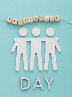 静物の友情の日の要素の上面図の品揃え