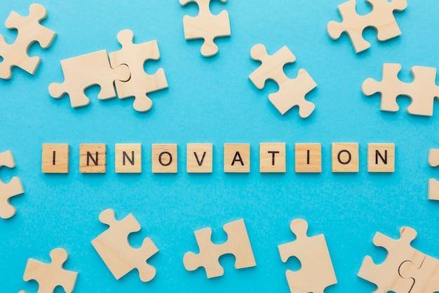 Ассортимент вид сверху с инновационными элементами