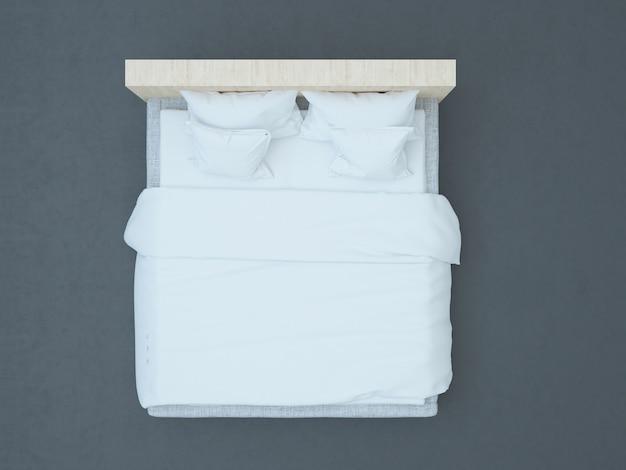 Вид сверху на кровать идеально подходит для макета