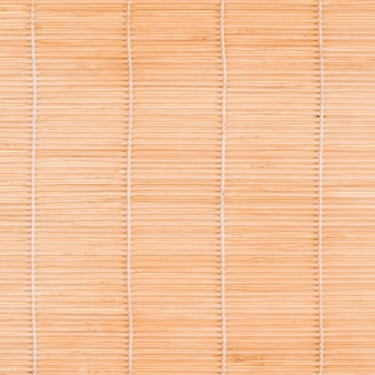 Top view of bamboo mat