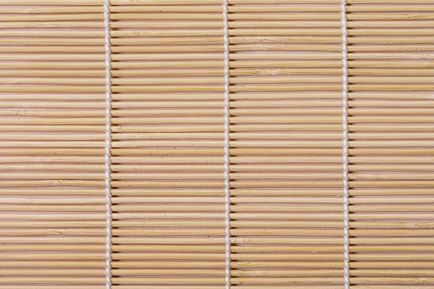 Top view of bamboo table mat