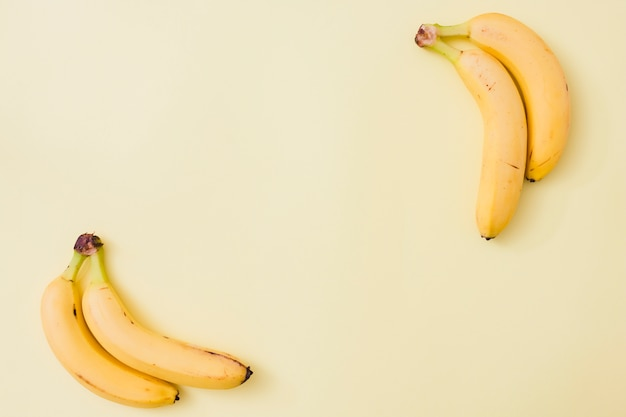 Top view bananas