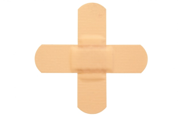 Top view of band-aid