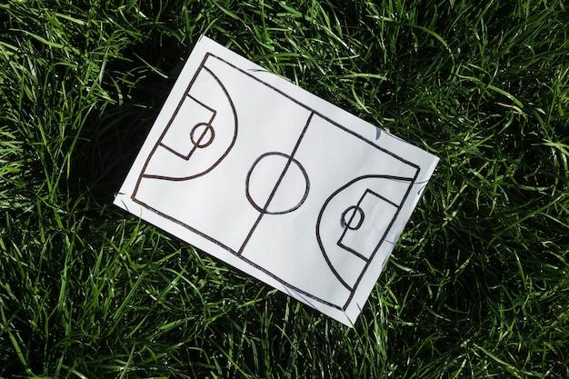 Top view of basketball game  plan