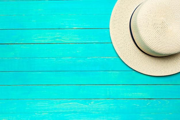 Top view beach hat