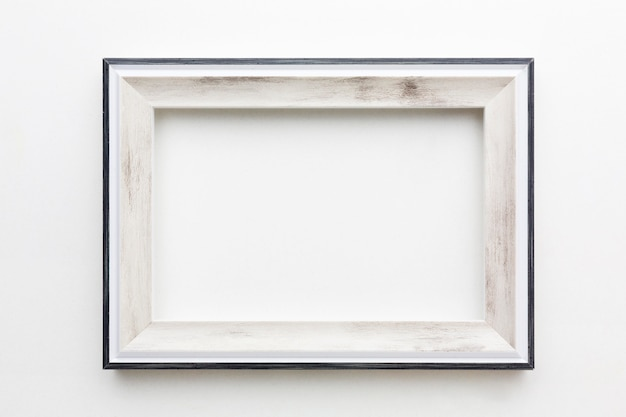 Top view of beautiful wooden frame concept