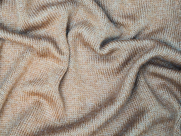 Top view bed sheet fabric texture