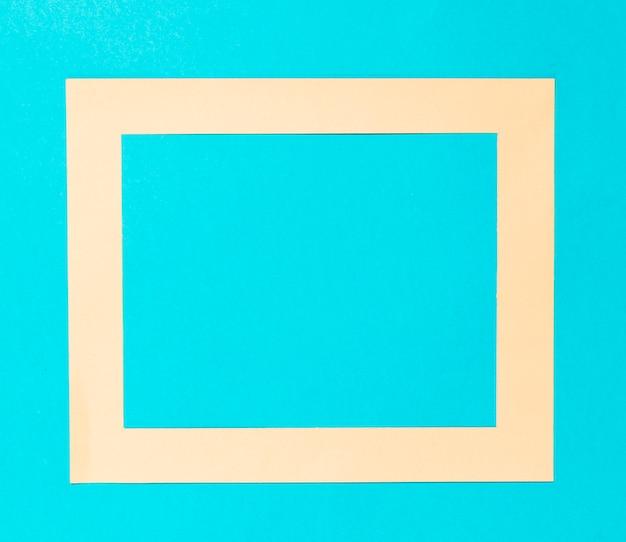 Top view beige decorative frame