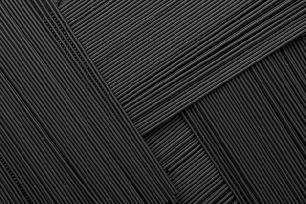 Top view of black pasta pattern