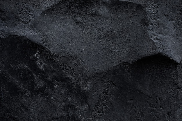 Top view of black stone texture background