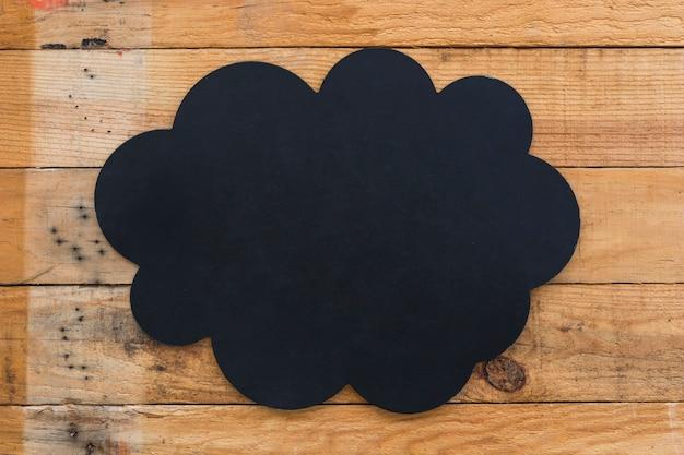 Top view blank board on wooden floor