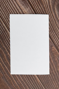Top view blank brochure