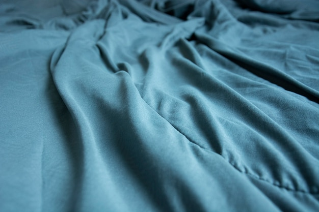 Top view of blue blankets