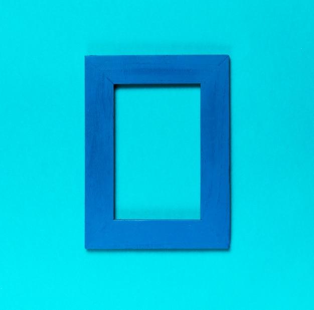 Top view blue decorative frame