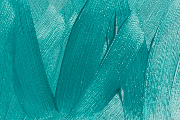 Top view of blue paint brush strokes