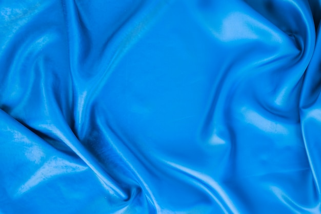 Top view of blue textile for carnival