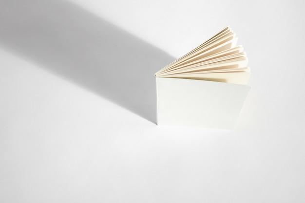Vista dall'alto del mockup del libro