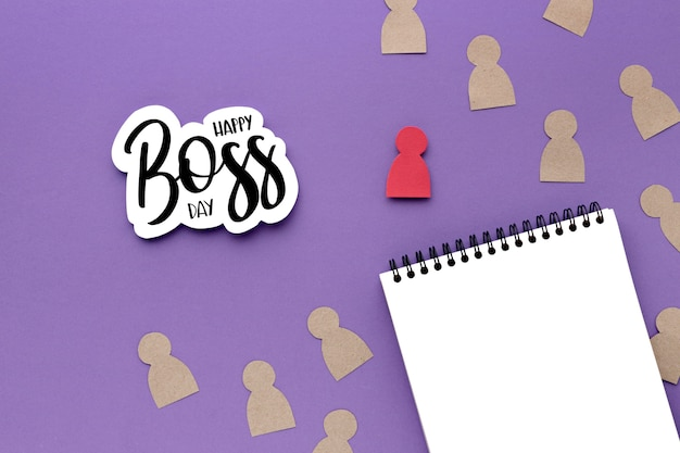 Top view of boss day concept