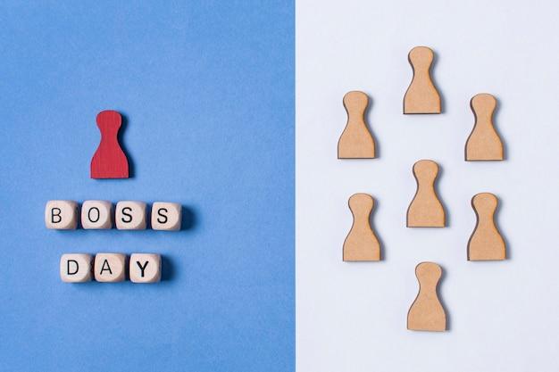 二色の背景に平面図ボスの日配置