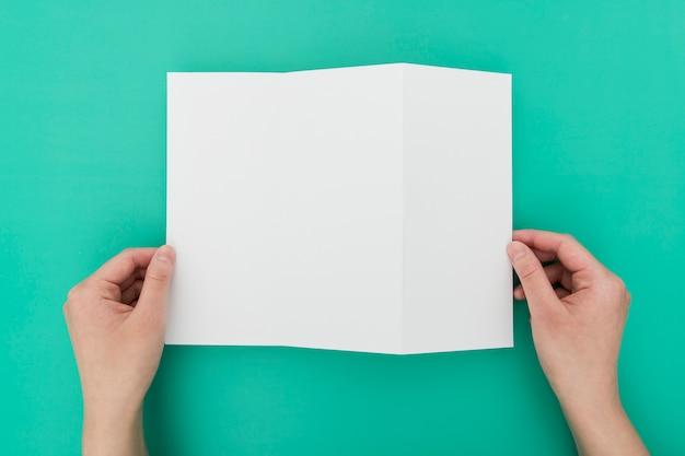 Top view brochure process