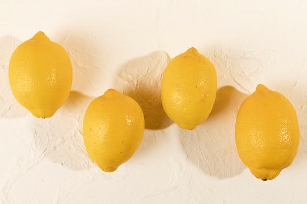 Top view bunch of tasty lemons