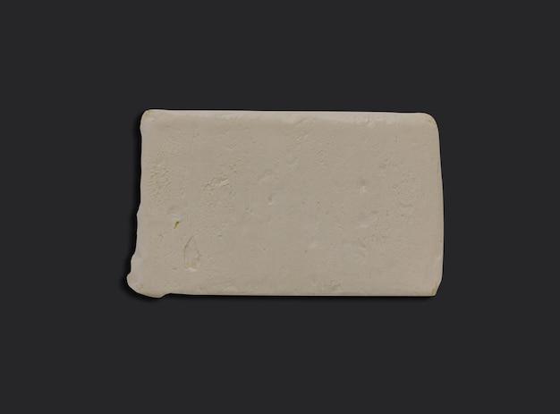 블랙에 상위 뷰 버터 슬라이스 사각형