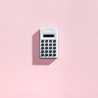 Top view of calculator with copyspace