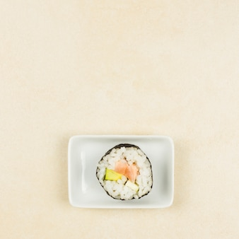 Top view of california roll