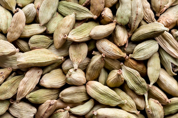 Top view of cardamom seeds