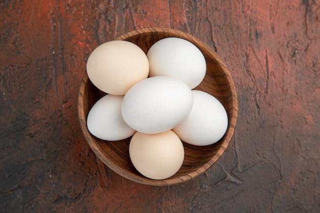 Uova di gallina vista dall'alto