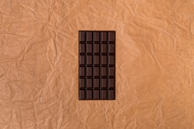 Top view of chocolate bar