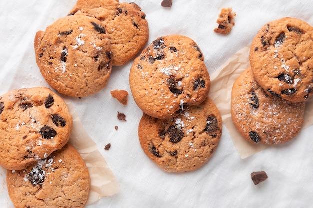 トップビューチョコレートクッキー