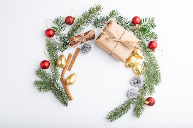 Вид сверху рождественские украшения