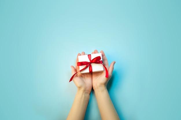 Top view christmas gift box