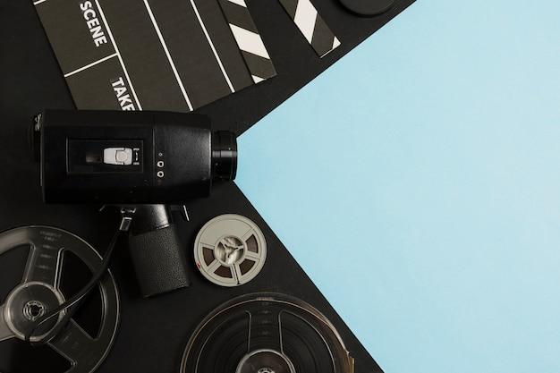 Top view cinema equipment