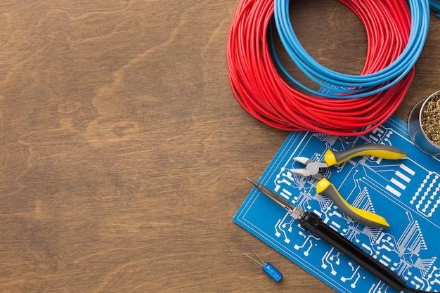 Top view circuit board repair