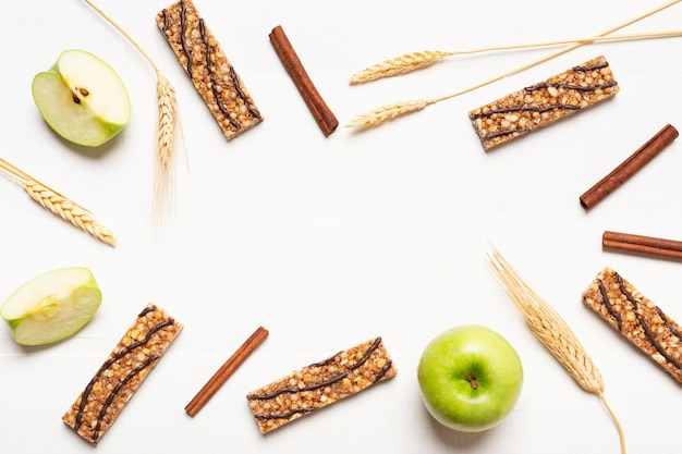 Cornice circolare vista dall'alto con snack bar