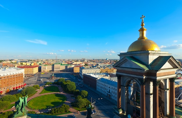Top view of city from saint isaac's cathedral