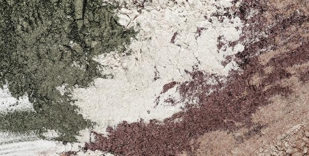 Vista dall'alto argilla di diversi colori