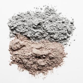 Vista dall'alto in polvere di argilla