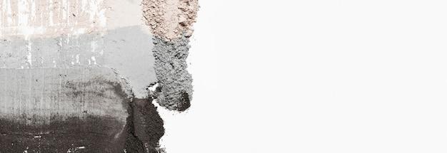 Вид сверху глиняное пятно с копией пространства
