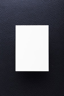 Top view clean business card concept