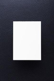 Вид сверху концепция чистой визитной карточки