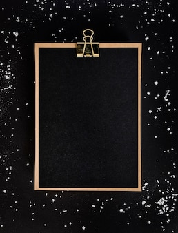 Top view clipboard with copy space
