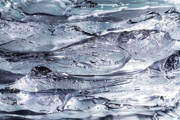 Крупным планом вид сверху водно-спиртового геля