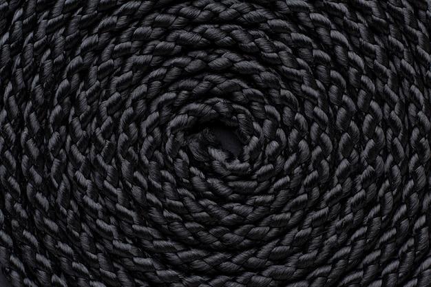 Primo piano vista dall'alto della composizione della trama della corda