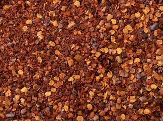 上面図、乾燥カラブリア唐辛子のクローズアップ。食品の背景。