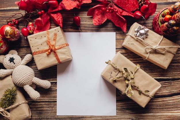 まとめたクリスマスプレゼントのトップビューコレクション