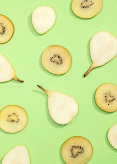 キウイと梨の上面図コレクション