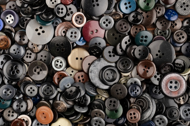 Top view of colored buttons